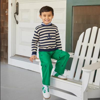 Nantucket Kids Twill Trousers Greenwich Green