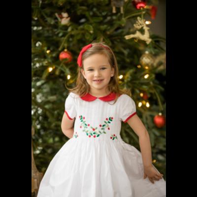 Antoinette Paris Scarlett White Smock Dress