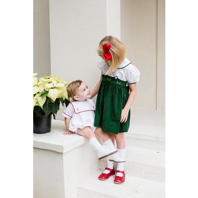 Lullaby Set Green Cord Holly Dress