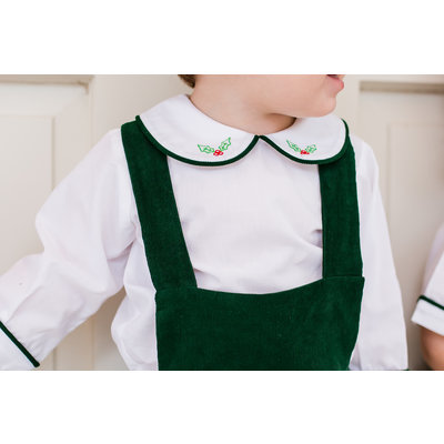 Lullaby Set Green Cord Holly Apron Set