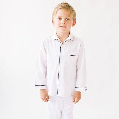 Petite Plume Classic Pajamas White & Navy