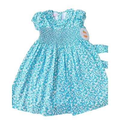 Peggy Green Christina Dress Turquoise & Blue