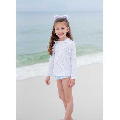 James & Lottie Charlotte Rashguard Set Sailboats
