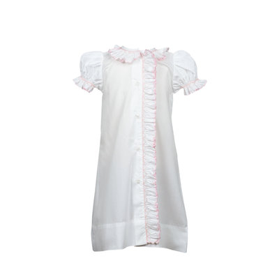 The Proper Peony Smocked Layette Gown White & Pink