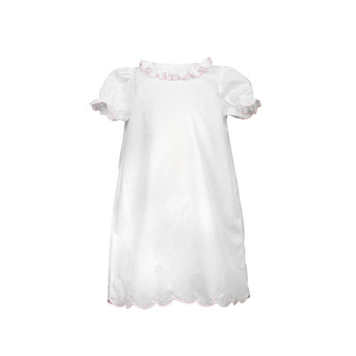 The Proper Peony Scalloped Dots Layette Gown