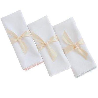 Pixie Lily Burp Cloth White