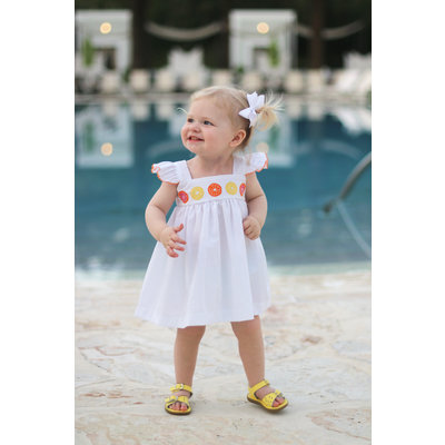 Christian Elizabeth & Co. Caliza Orange Bloomer Set