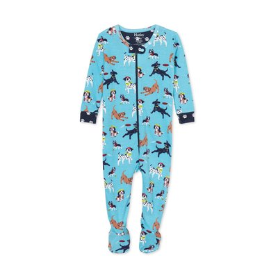 Hatley Playful Pups Footed PJs