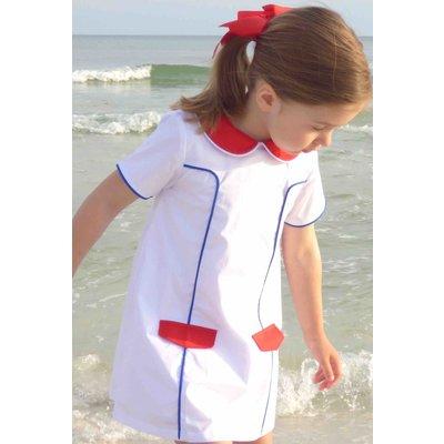 The Yellow Lamb Red, White, & Blue Hampton Dress