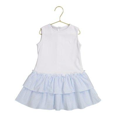Petit Atelier Danielle Blue Check Ruffle Dress