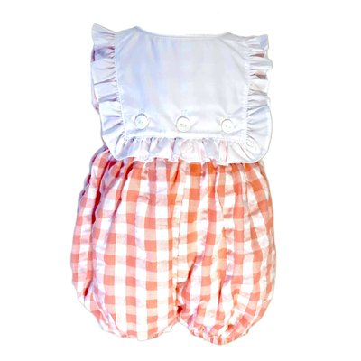 The Yellow Lamb Ansley Bubble Coral Gingham
