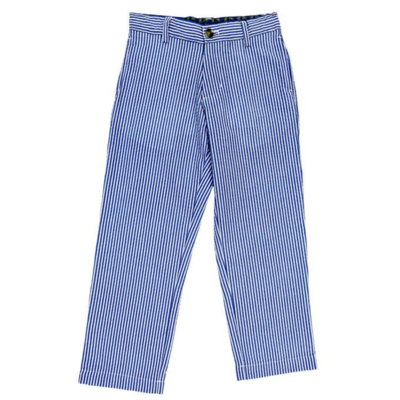 J. Bailey Blue Seersucker Pants