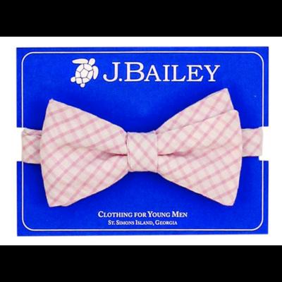 J. Bailey Pink Windowpane Bow Tie