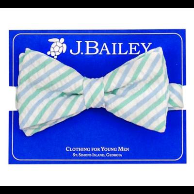 J. Bailey Ocean Seersucker Bow Tie