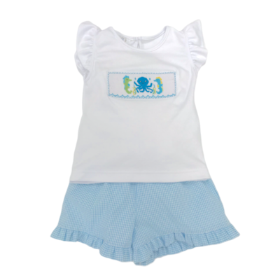 Lulu Bebe Joy Short Set Sea Creatures