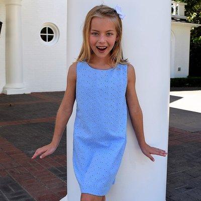 Maggie Breen Goldfish Eyelet Blue Dress