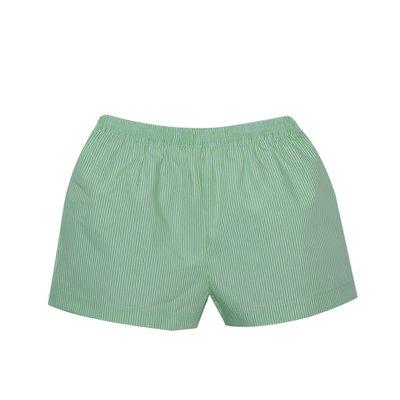 Lullaby Set Stewart Shorts Green Stripe