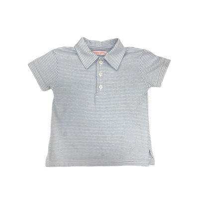 Peggy Green Blue Candy Stripe Polo