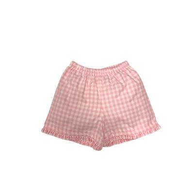 Peggy Green Petal Pink Gingham Shorts