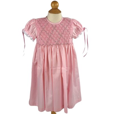 Peggy Green Pink Heirloom Smock