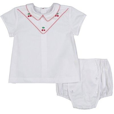 Pixie Lily Cherry Apron & Bloomer