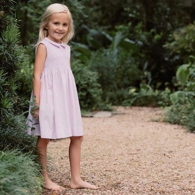 Pixie Lily Pink Gingham Smocked Dress