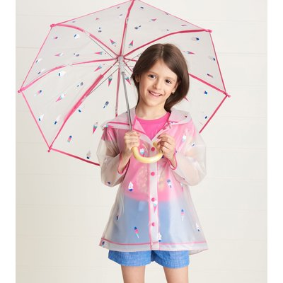 Hatley Cool Treats Clear Raincoat