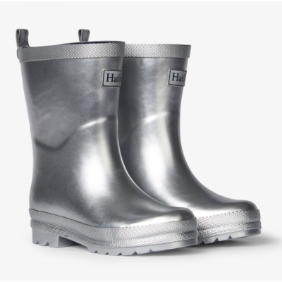Hatley Silver Shimmer Rain Boots