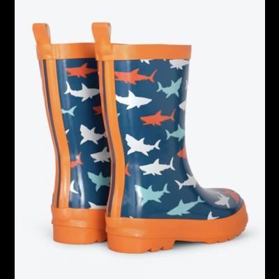 Hatley Great Wh Sharks Rain Boots