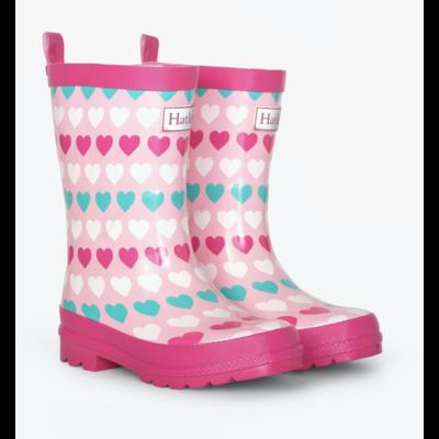 Hatley Multicolor Hearts Rain Boots