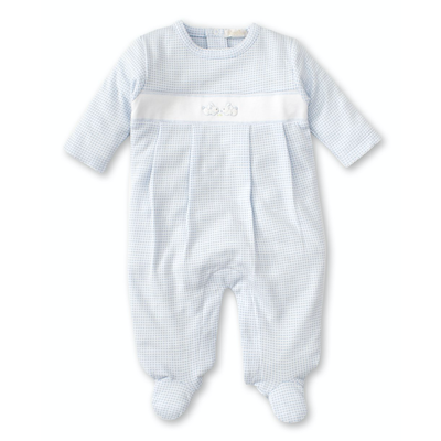 Kissy Kissy Premier Cottontails Footie Blue