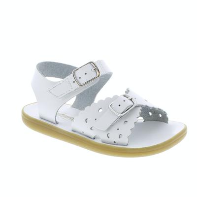 Footmates Velcro Ariel White