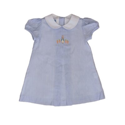 Anavini Rabbit Dress Blue Stripe