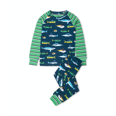 Hatley Game Fish PJ Set