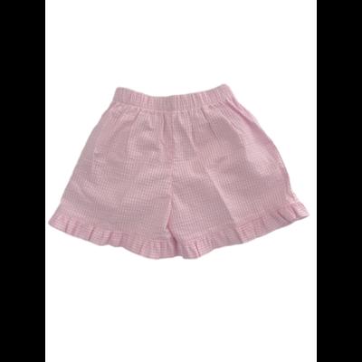 Lulu Bebe Adele Shorts Pink Seersucker