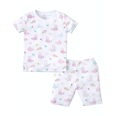 Kissy Kissy Whale of a Time PJ Set Fuchsia