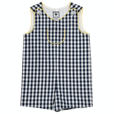 Busy Bees Jack Shortall Navy Gingham