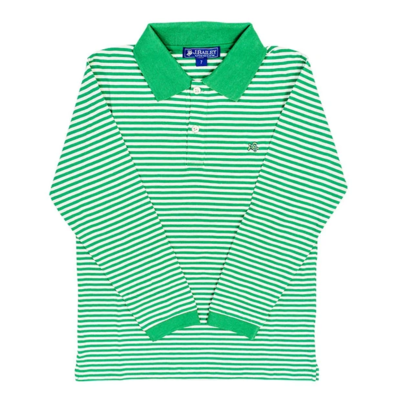 J. Bailey Henry L/S Polo Green & White