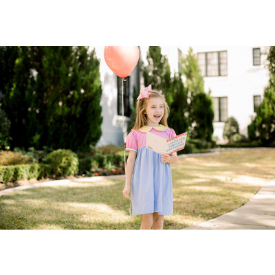 Lullaby Set Pre-Order Memory Making Dress Pink, Yellow, & Blue Gingham