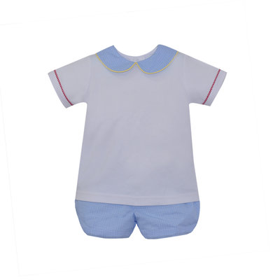 Lullaby Set Pre-Order Sibley Bloomer Set Blue, Red, & Yellow Gingham
