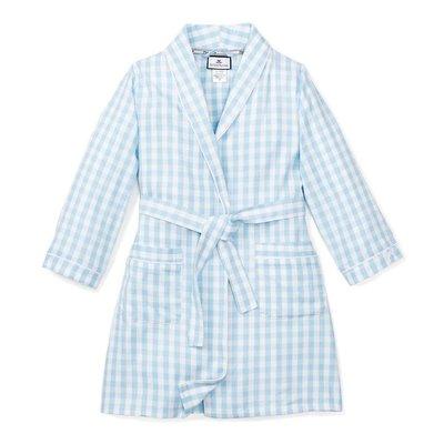 Petit Plume Light Blue Gingham Robe
