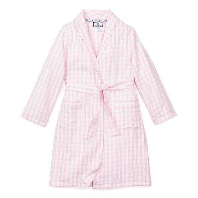 Petit Plume Pink Gingham Robe
