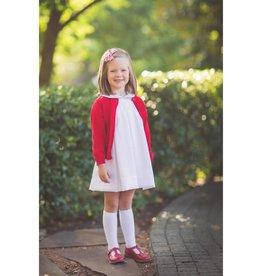 The Proper Peony Classic White Pleat Dress
