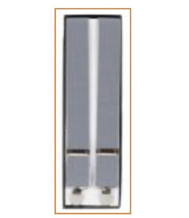 Suspenders (4 Clip) Light Grey