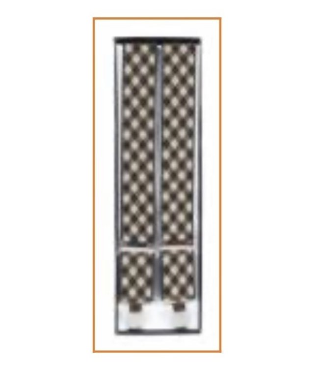 Suspenders (4 Clip) Brown Checker