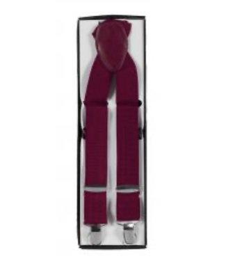 Suspenders (4 Clip) Burgundy