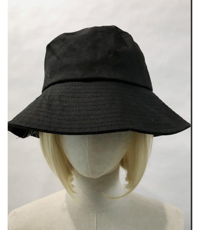 #wearfnf Solid Wide Bucket Hat BLACK