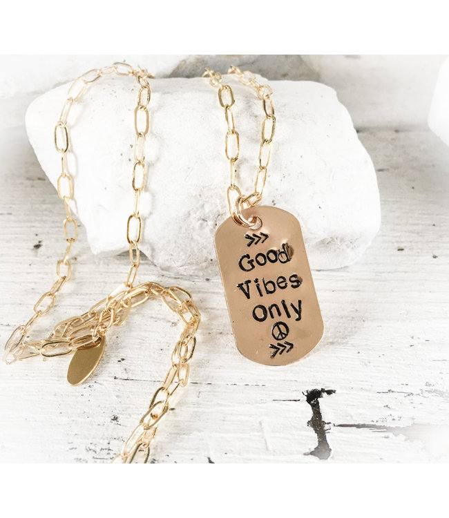 """DBL Designs GOOD VIBES ONLY - 27"""" Long Chain"""