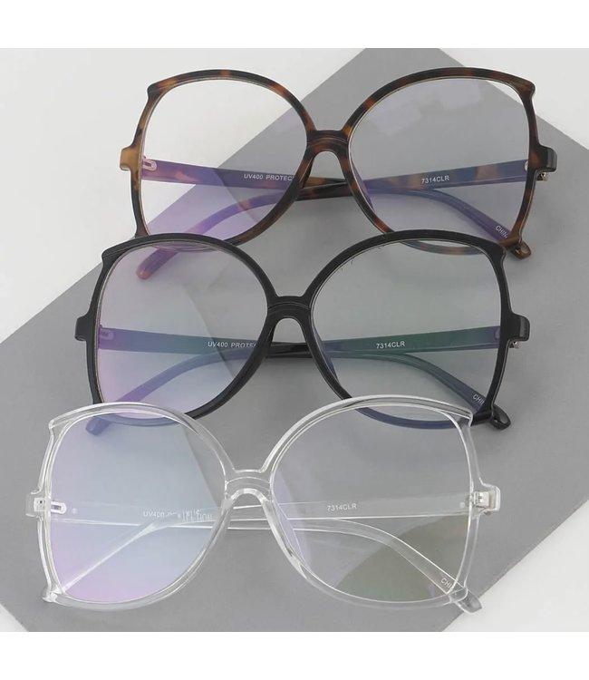 #wearfnf Newage Clear Sunglasses