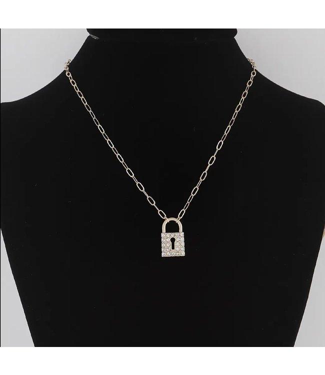 #wearfnf Lock N Keys Pendant Necklace GOLD Colour
